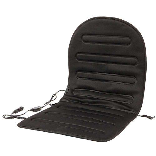 Fűthető ülésvédő, 12V, szabályozható intenzitás.