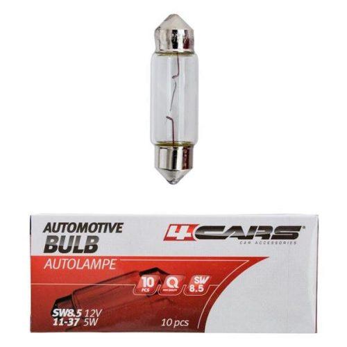 4Cars SV8.5 szofita izzó, 11x37mm, 5W, 12V