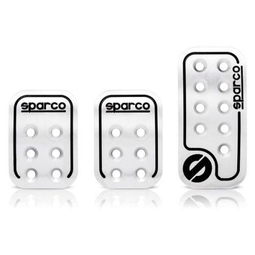 Sparco sport pedál készlet, alumínium, ezüst