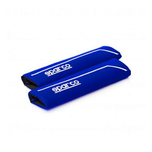 Biztonsági övpárna, kék-fehér, Sparco S Line