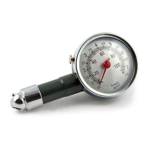 Analóg keréknyomásmérő, fémházas, 7,5 Bar