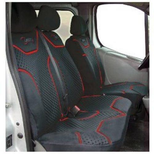 Profi kisteherautó üléshuzat, fekete, 2+1
