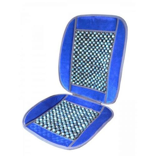 Ülésvédő fagolyós, velúr, kék