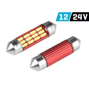 Vision SV8.5 szofita izzó, 36mm, 12/24V, 12xSMD 4014 led, Canbus, fehér