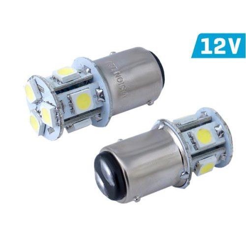 Vision P21/5W izzó, BAY15d, 12V, 8xSMD 5050 led, fehér,