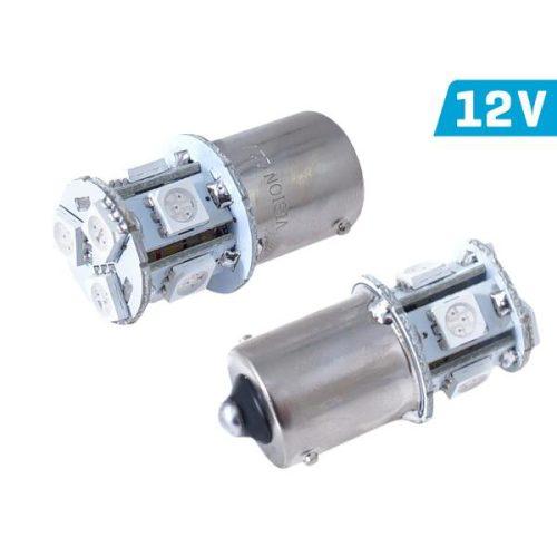 Vision PY21W izzó, BA15s, 12V, 8xSMD 5050 led, narancs