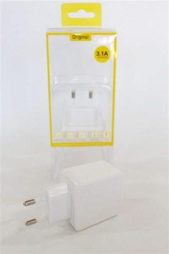 Tripla hálózati USB gyorstöltő adapter