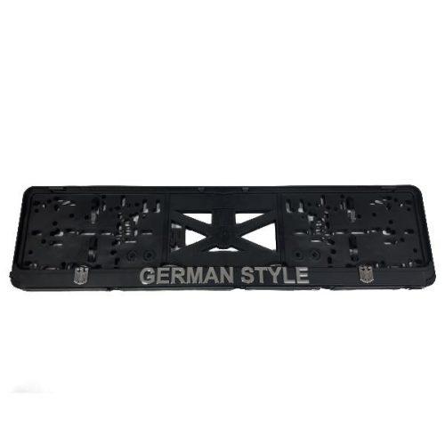 Rendszámtábla tartó, 3D feliratos, logós, GERMAN STYLE