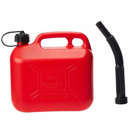 Üzemanyag kanna, műanyag, 10l, piros