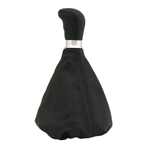 Váltógomb szoknyával, fekete bőr