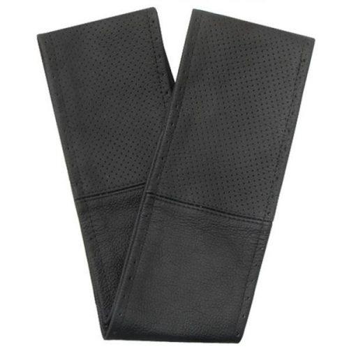 Kormányvédő, fűzős, fekete- perforált fekete L, 39-40 cm