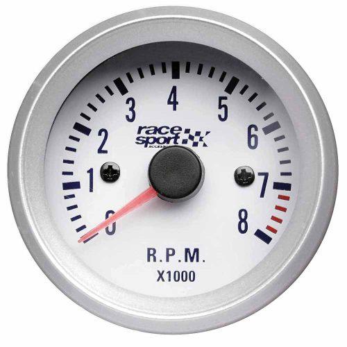Fordulatszámmérő óra, 270fok, RACE SPORT, átmérő 52mm, 12V