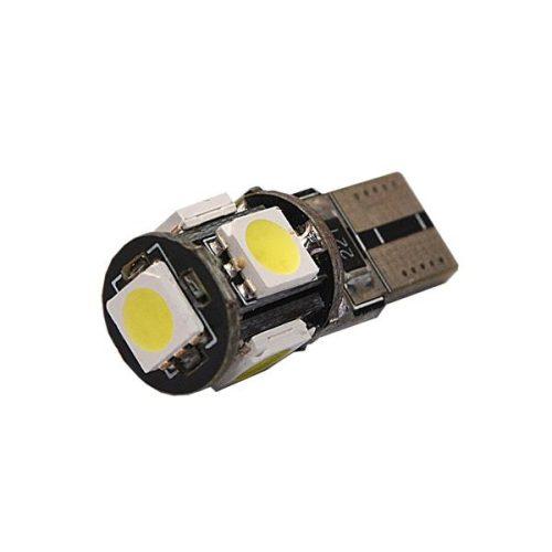SBAutoparts T10 izzó, helyzetjelző, 5xSMD led, 5W, 12V, fehér