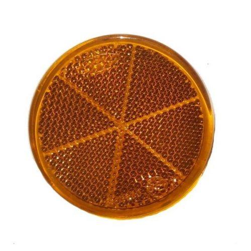 Prizma, kerek, narancs, öntapadó, átmérő 60mm